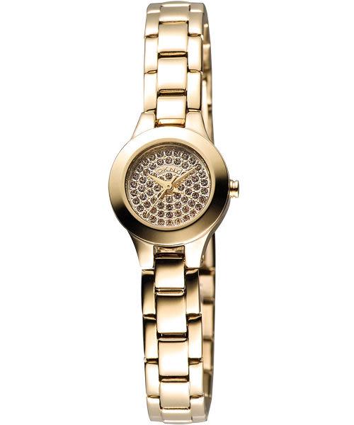 DKNY 性感曲線晶鑽女錶-金 NY8692