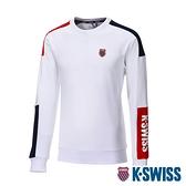 K-SWISS Colors Panel Sweatshirt圓領長袖上衣-女-白/藍/紅
