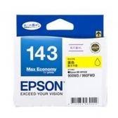EPSON NO.143 T143450 高印量黃色墨水匣