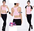 ★草魚妹★B48瑜珈服歐美法式短袖三件式路跑健身服運動衣長褲,整套售價1300元