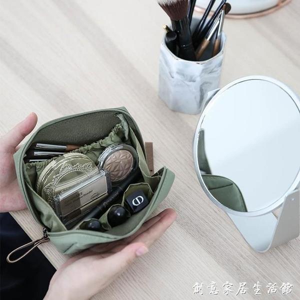 述物ins風化妝包女便攜小包小號隨身旅行口紅補妝化妝品收納袋子 創意家居生活館