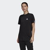 Adidas 3-STRIPES 女款黑色運動短袖上衣-NO.GH3798