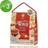 【南紡購物中心】【豐滿生技】紅薑黃黑糖海燕窩/桂圓紅棗(即溶包)白盒 (25gx10包/盒 )3盒組