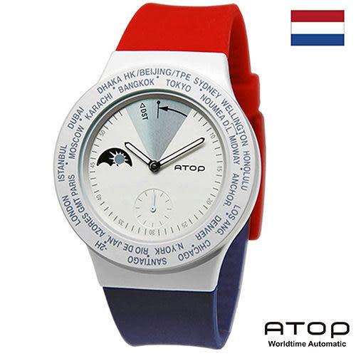 ATOP 世界時區腕錶 24時區國旗系列 - VWA-Netherland 荷蘭