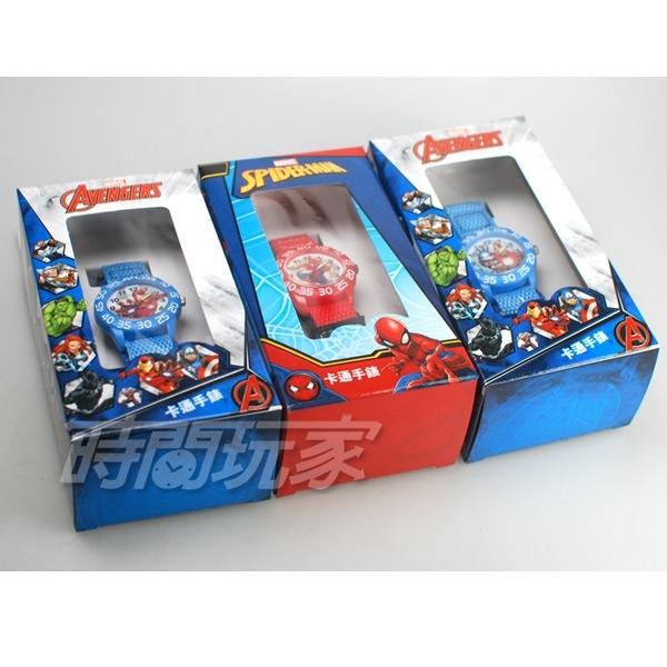 Disney 迪士尼 時尚卡通手錶 漫威漫畫 超級英雄 美國隊長 兒童手錶 數字女錶 男錶 藍色 U3-6040