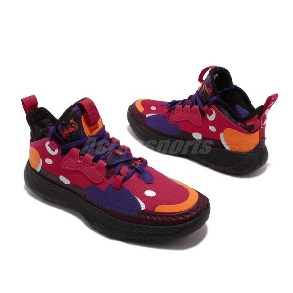 【海外限定】adidas 籃球鞋 Harden Vol.5 J 紅 紫 橘 哈登 愛迪達 女鞋 大童鞋 【ACS】 H67574