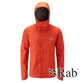 【RAB 英國】DOWNPOUR 男 超輕量防風防水外套『爆竹橘』QWF61 雨衣 夾克