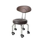 帶輪凳子 帶輪小凳子家用圓凳行動滑輪靠背椅兒童學步矮凳美縫施工洗衣板凳T