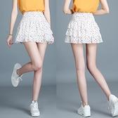 百褶裙 超短裙女學生雪紡蛋糕裙碎花半身裙子夏高腰百褶A字裙矮個子嬌小