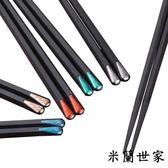 日式日系壽司消毒快子尖頭合金筷子