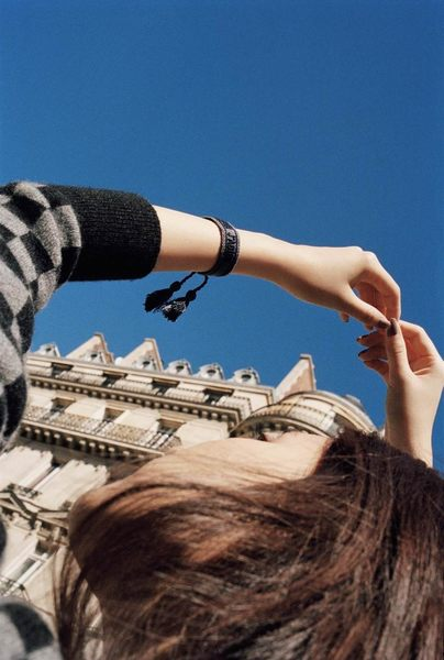 【巴黎站二手名牌專賣店】*全新現貨*Christian Dior 真品*DIOR J'ADIOR 編織手環