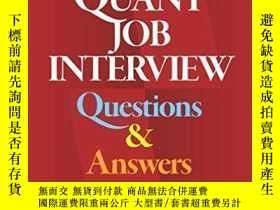 二手書博民逛書店Quant罕見Job Interview Questions And Answers-定量面試問答Y43663