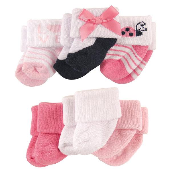 寶寶襪/嬰兒襪 Luvable Friends 嬰兒襪/止滑襪6雙入組 - 粉紅瓢蟲瑪莉珍 20621 0-3M