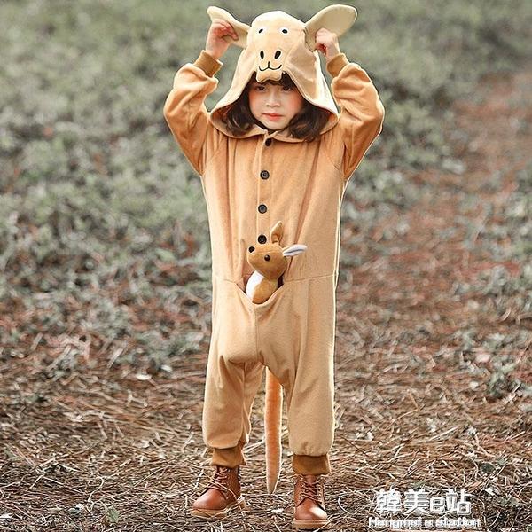 聖誕新年兒童袋鼠動物扮演服 錶演服可愛小袋鼠連身衣演出服 韓美e站