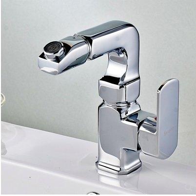 全銅360度旋轉家用洗手盆單孔混水閥龍頭面盆臺盆冷熱水龍頭