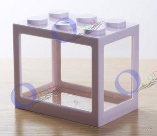 [白色]特製樂高積木造型壓克力鬥魚缸.小魚缸.組合多肉花器 ☆居家.店面.櫥窗.玄關.大廳擺飾☆