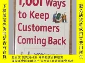 二手書博民逛書店1,001罕見Ways to Keep Customers Co