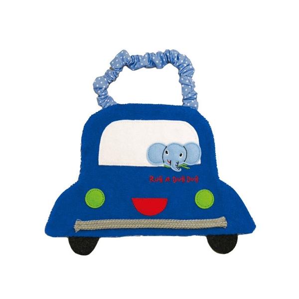 【日本製】【Rub a dub dub】幼童用 汽車造型圍兜兜 藍色 SD-9161 - Rubadubdub