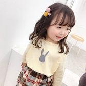 韓系小眼睛兔子長袖上衣 童裝 長袖上衣