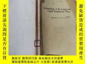 二手書博民逛書店IMMUNOLOGY罕見OF THE LUNG AND UPPER RESPIRATORY TRACT,肺和上呼吸
