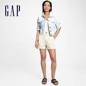 Gap女裝 時尚紮染水洗牛仔外套 683493-藍色紮染
