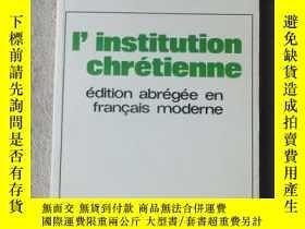 二手書博民逛書店L institution罕見chrétienneY21478