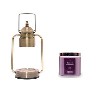 (組)EPOCHSIA x Pray守夜人金屬香氛蠟燭暖燈(S)-復古金+檸檬薰