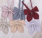 jk純色兔耳朵領結藕粉紫色淺黃