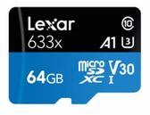 【聖影數位】Lexar 雷克沙 633x microSDHC 64G A1 U3 V30 讀取95MB/s 寫入45MB/s