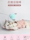 逗貓棒羽毛鋼絲鈴鐺逗貓桿小貓咪互動玩具貓奴擼貓逗貓器寵物 【快速出貨】