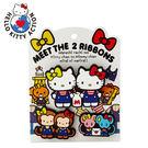 Sanrio  HELLO KITTY相遇雙緞帶系列矽膠造型夾組(一組3個入)★funbox★_800813