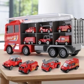 兒童玩具車小汽車工程消防套裝合金車模三5益智多功能3-4-6歲男孩  全館免運