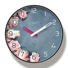 客廳時鐘 北歐ins少女心掛鐘客廳裝飾創意網紅時鐘掛墻家用靜音鐘表免打孔【快速出貨八折搶購】