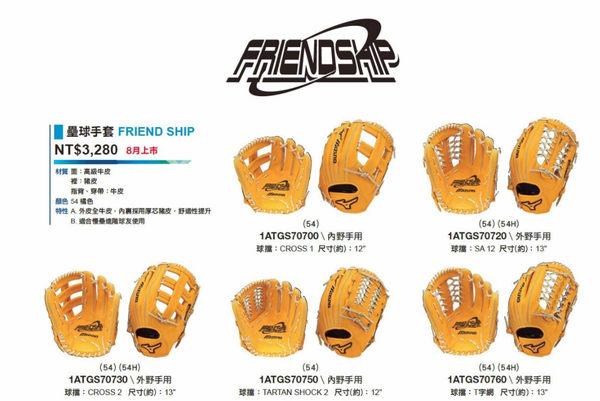 MIZUNO 美津濃 棒球 牛皮 外野手用 球擋-T字網 手套 1ATGS70760 54[陽光樂活]
