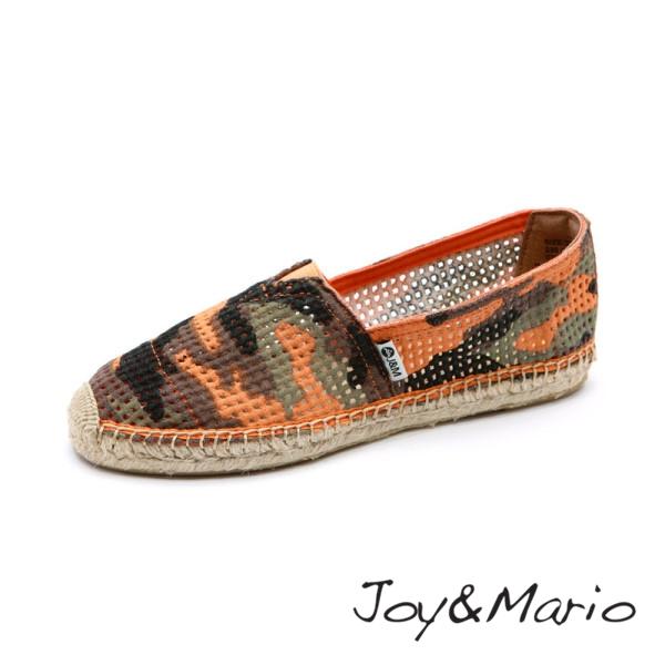 【Joy&Mario】迷彩鏤空草編鞋 - 01096W SAFFRON