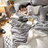 北歐風秋冬季羊羔絨毛毯被子加厚保暖珊瑚絨毯子純色法蘭絨午睡毯