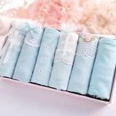 中大碼 內褲禮盒 全棉透氣低腰內褲女棉質面料可愛性感蕾絲學生褲組合禮盒裝星期褲