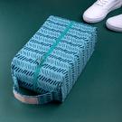 帆布印花鞋包 防水 便攜 出差 旅遊 鞋子收納包 收納袋 防塵 手提 置物【B054-1】生活家精品