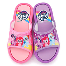 童鞋城堡-新彩虹小馬 中大童 室外拖鞋MP0170-粉/紫 (共二色)