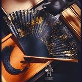 折扇 中國風扇6寸灑金銀真絲女式復古風日式日本漢服折扇子古典攝影夏 小衣里