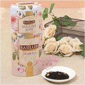 ♥小花花日本精品♥ 英國玫瑰花卉紅茶 上下層茶葉 玫瑰花鐵罐紅茶 早茶 晚茶 99956608
