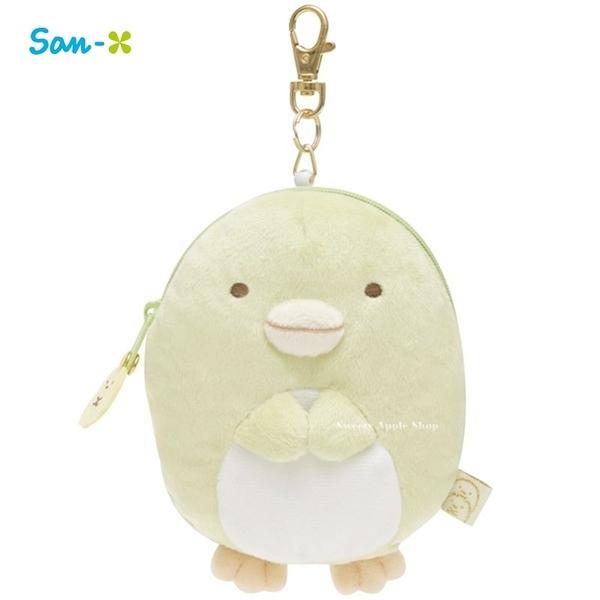 日本限定 角落生物 企鵝 玩偶 伸縮 零錢票卡夾收納包