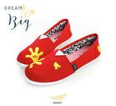 Disney 魔法手套~經典米奇大手懶人鞋-紅