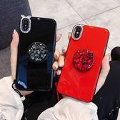 歐美潮牌 贈掛繩 OPPO A73 A75 A75S 手機殼 鑲鑽 氣囊支架 保護殼 全包 防摔 矽膠軟殼 水鑽 保護套