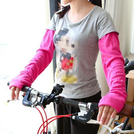 涼感新素材 消暑運動網布袖套(1雙入) 吸汗 速乾 防曬袖套 夏日 機車