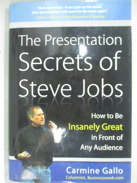 【書寶二手書T1/財經企管_C8Q】The Presentation Secrets of Steve Jobs_Carmine Gallo