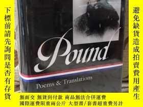 二手書博民逛書店Ezra罕見Pound poems and translations 美國文庫精裝本 館藏書Y171339 E