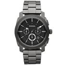 FOSSIL 星際時空三環運動腕錶/手錶(FS4662)-鐵灰/45mm