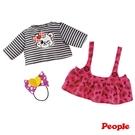 日本POPO-CHAN-小熊吊帶裙組合 344元