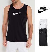 【GT】Nike Dri-Fit 黑/白 無袖T恤 排汗 運動 休閒 籃球 背心 上衣 短T Logo
